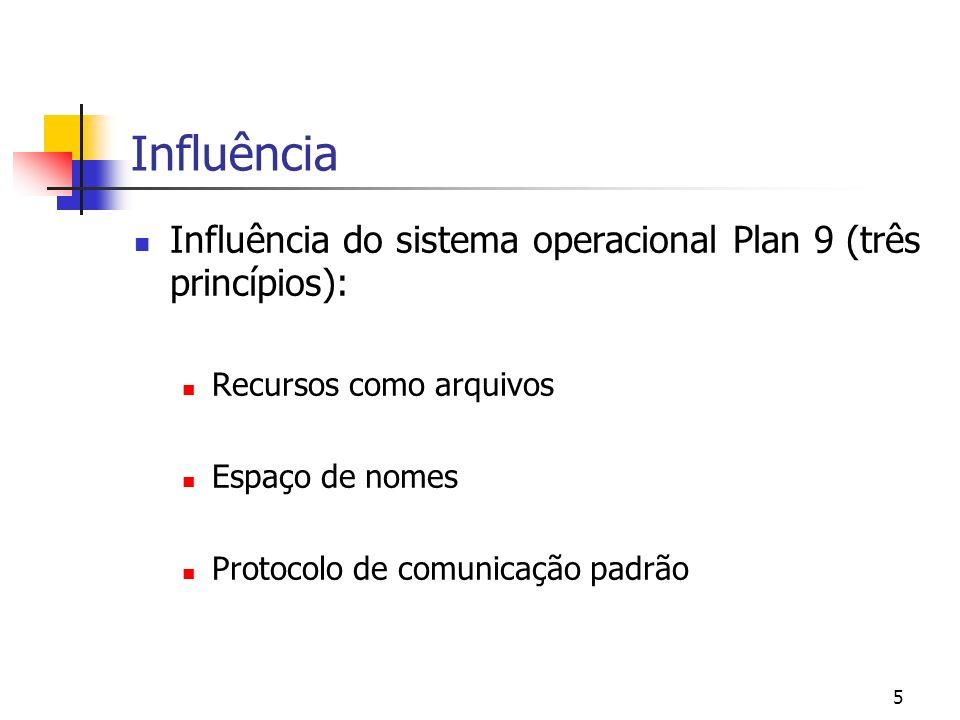 Influência Influência do sistema operacional Plan 9 (três princípios):