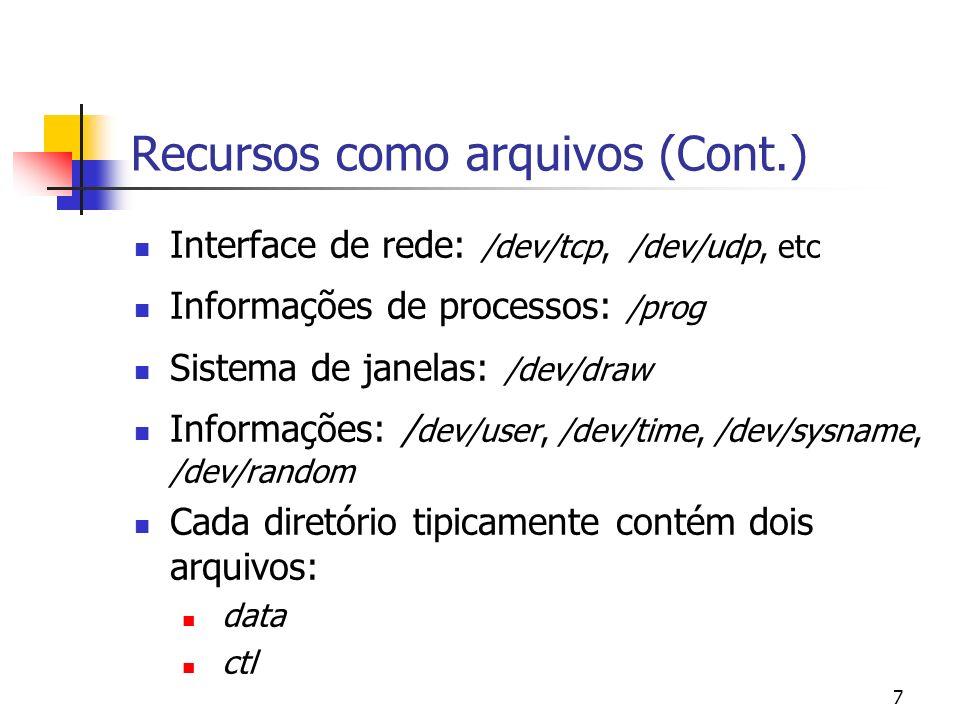 Recursos como arquivos (Cont.)