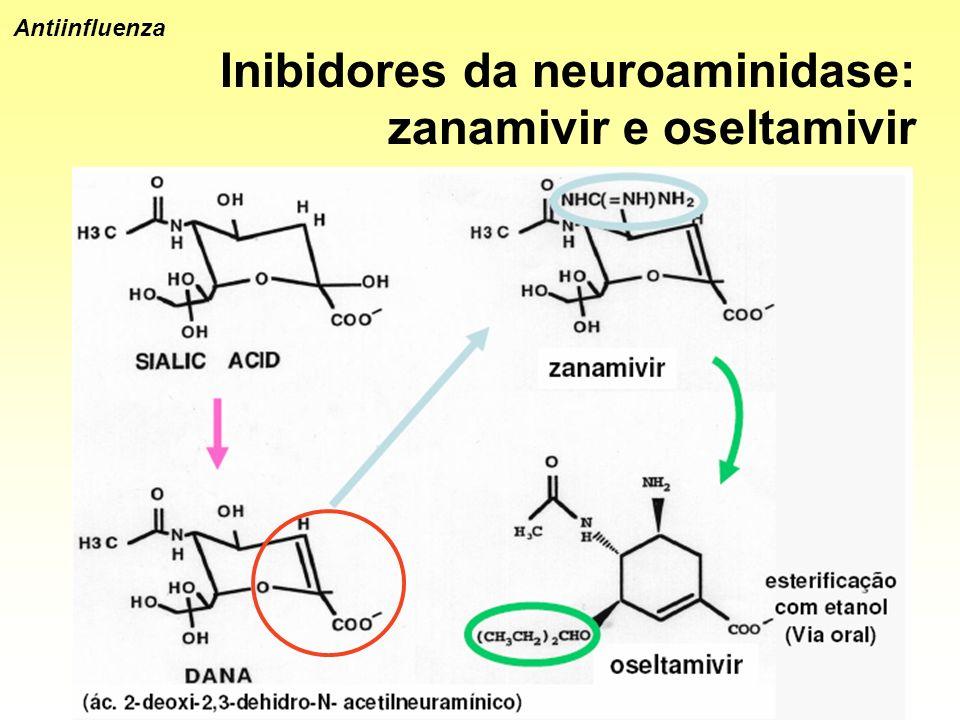 Inibidores da neuroaminidase: zanamivir e oseltamivir