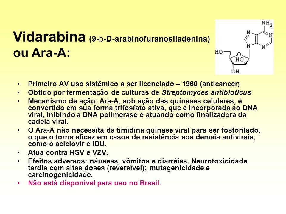 Vidarabina (9-b-D-arabinofuranosiladenina) ou Ara-A: