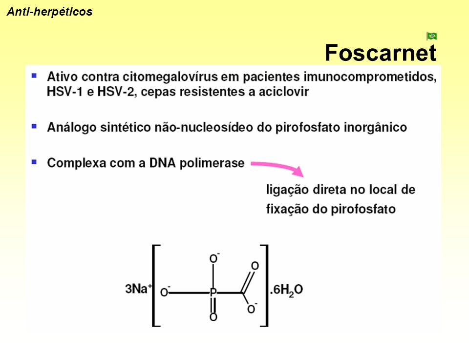 Anti-herpéticos Foscarnet