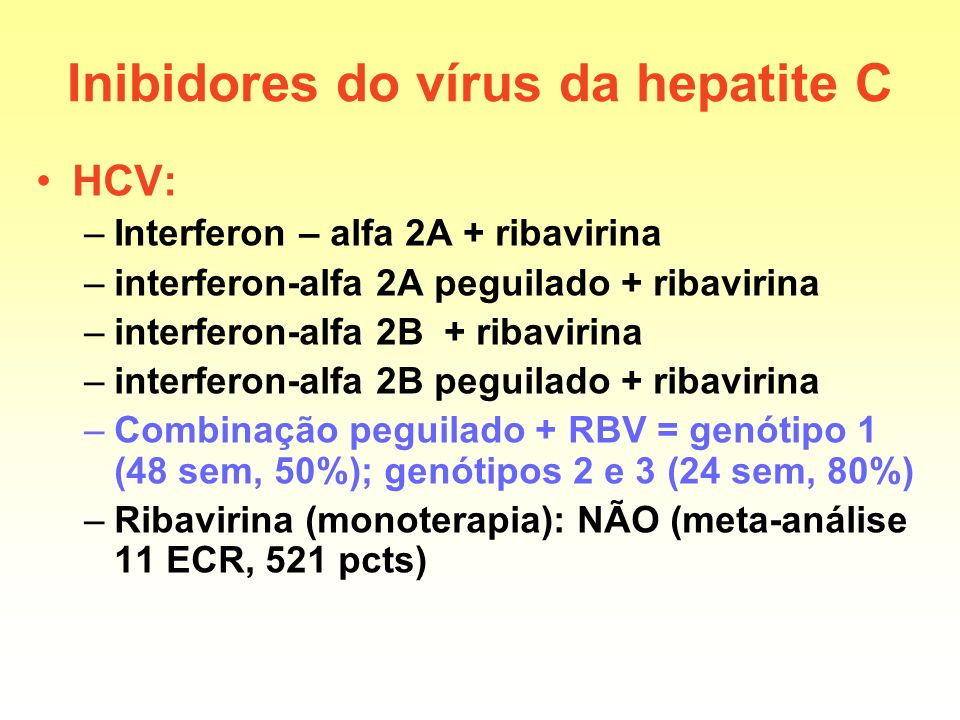 Inibidores do vírus da hepatite C