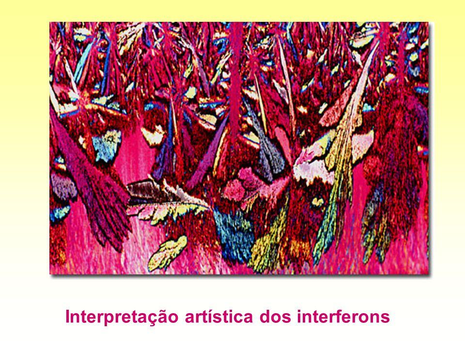 Interpretação artística dos interferons