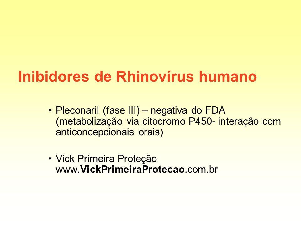 Inibidores de Rhinovírus humano