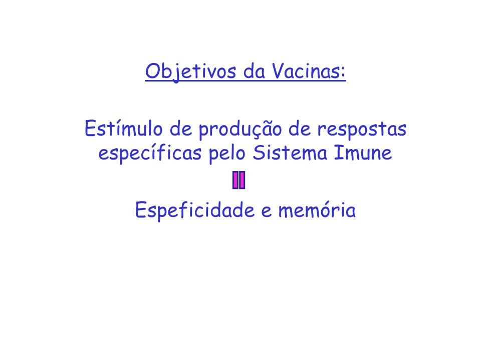 Estímulo de produção de respostas específicas pelo Sistema Imune