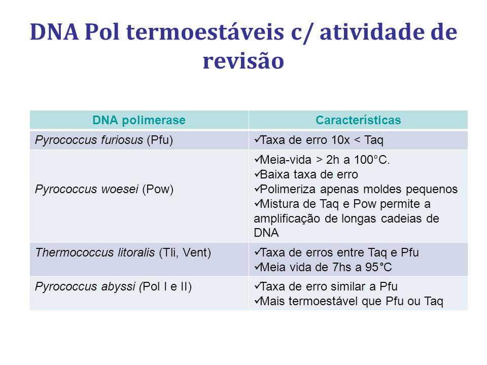 DNA Pol termoestáveis c/ atividade de revisão