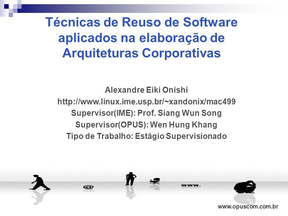 Técnicas de Reuso de Software aplicados na elaboração de Arquiteturas Corporativas