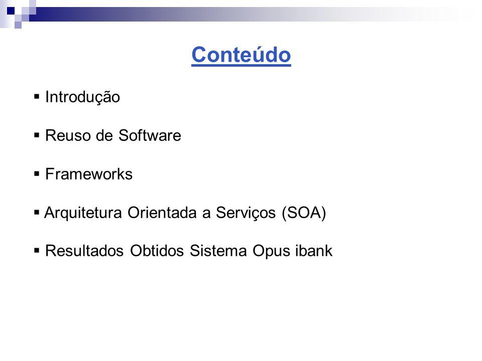 Conteúdo Introdução Reuso de Software Frameworks