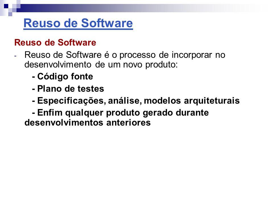 Reuso de Software Reuso de Software