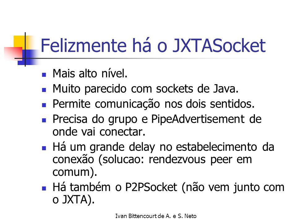 Felizmente há o JXTASocket