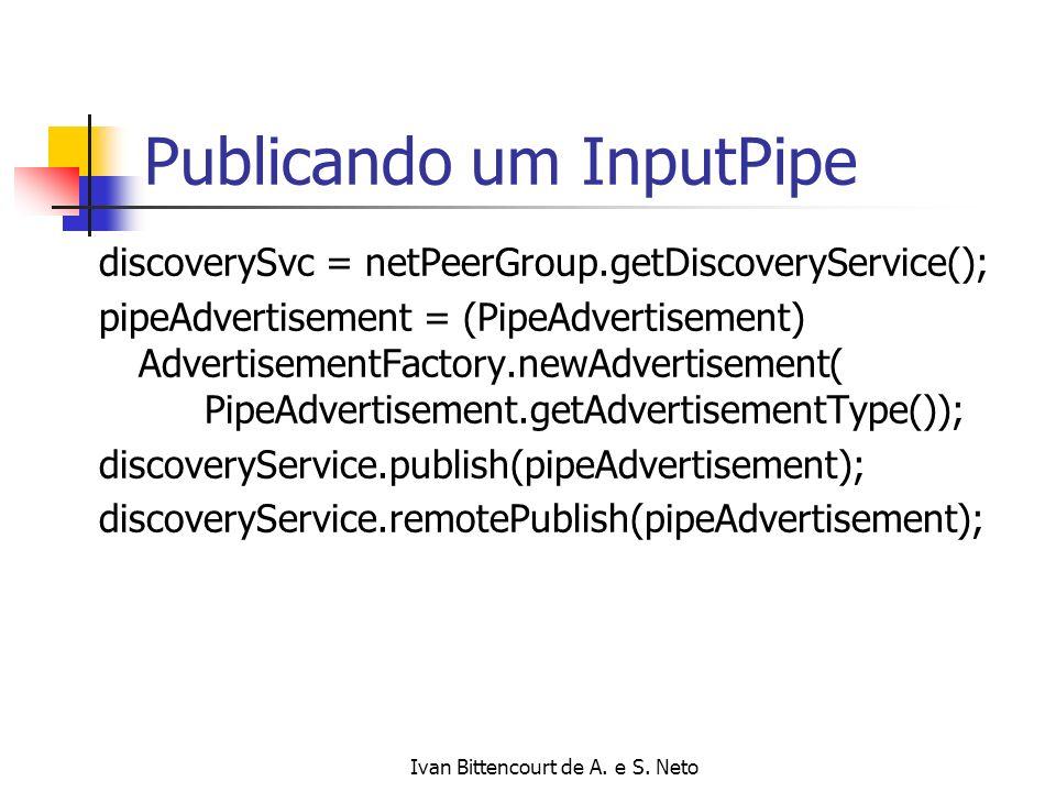 Publicando um InputPipe