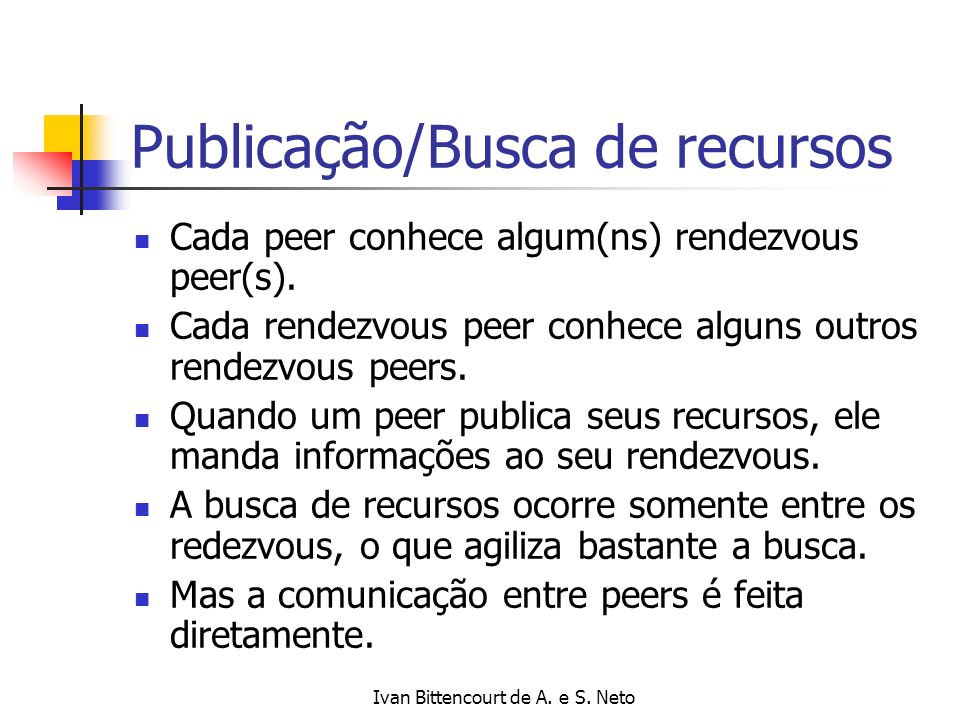 Publicação/Busca de recursos
