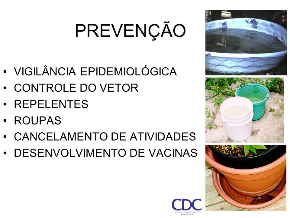 PREVENÇÃO VIGILÂNCIA EPIDEMIOLÓGICA CONTROLE DO VETOR REPELENTES