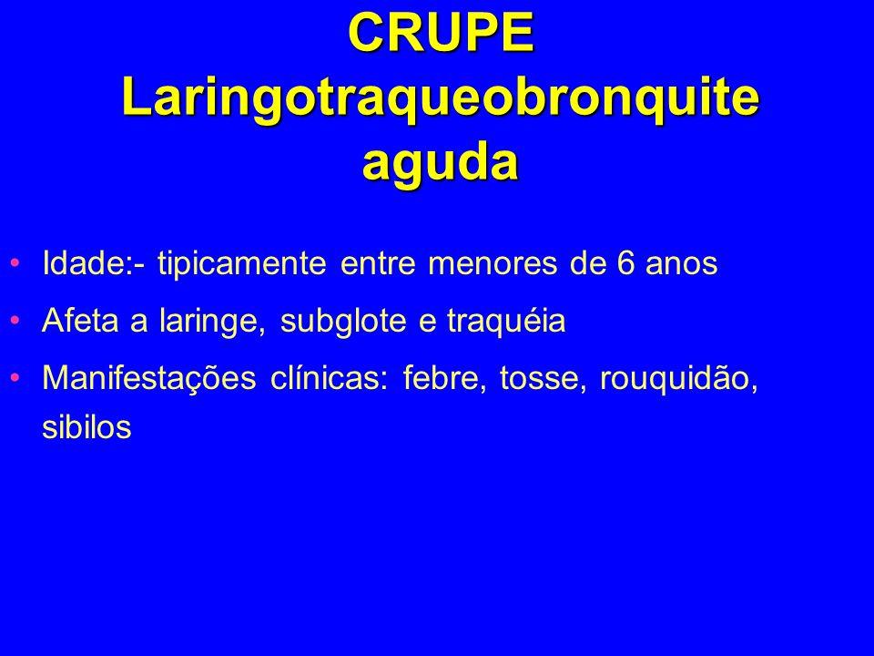 CRUPE Laringotraqueobronquite aguda