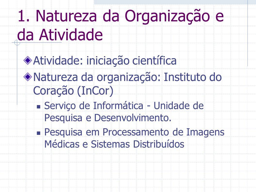 1. Natureza da Organização e da Atividade