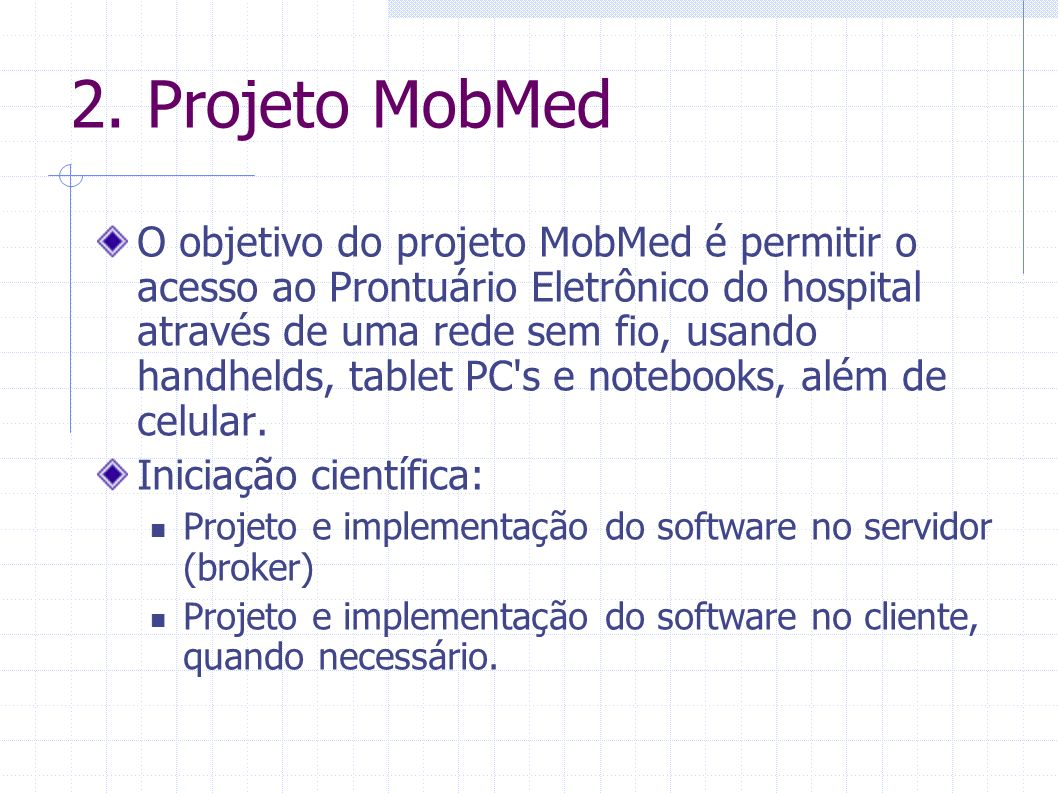 2. Projeto MobMed