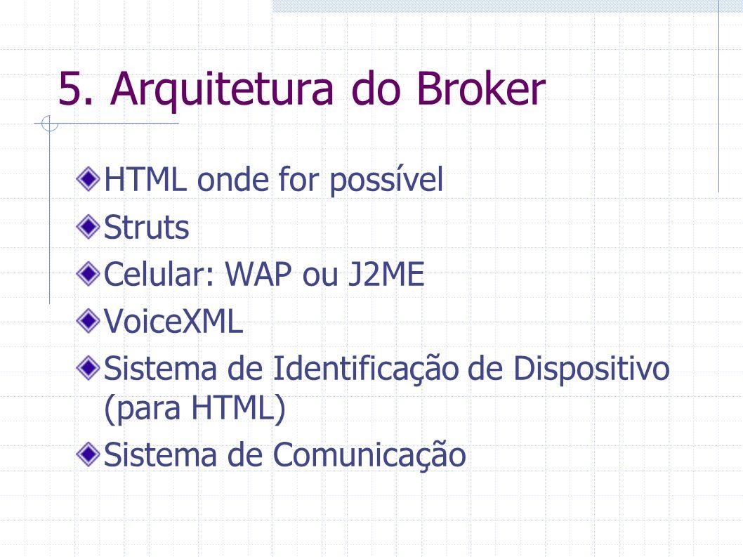 5. Arquitetura do Broker HTML onde for possível Struts