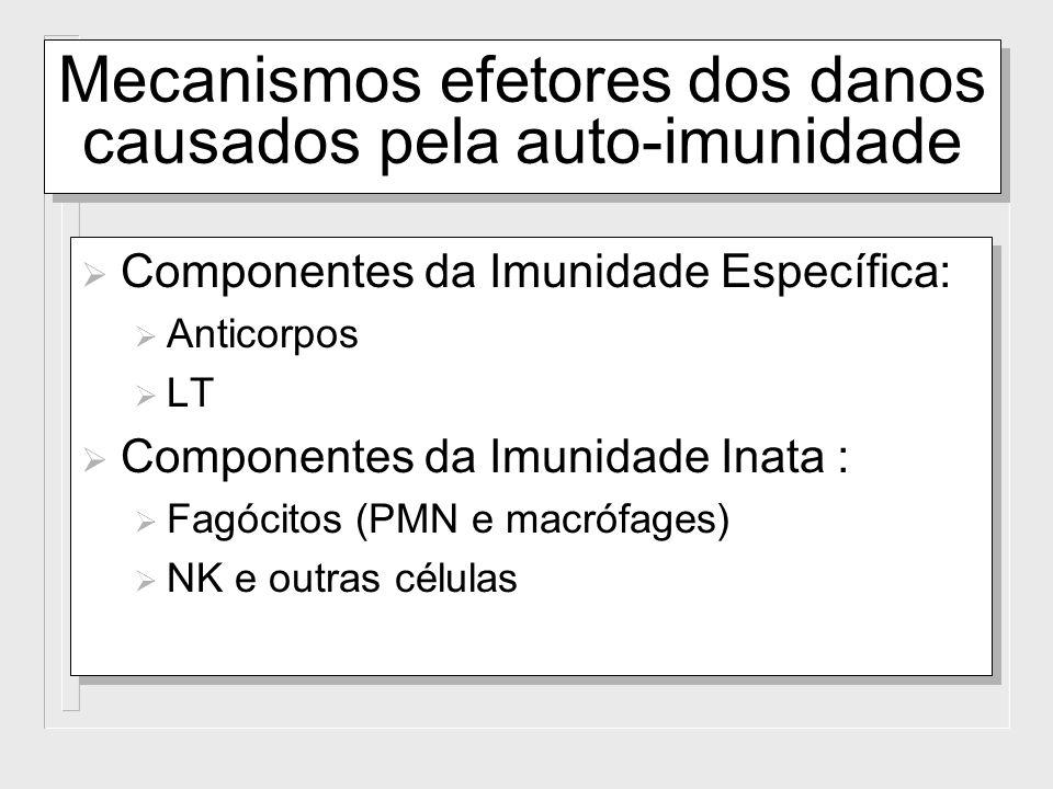 Mecanismos efetores dos danos causados pela auto-imunidade