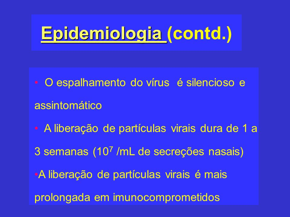 Epidemiologia (contd.)
