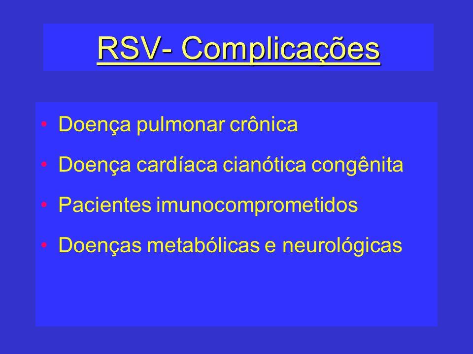 RSV- Complicações Doença pulmonar crônica