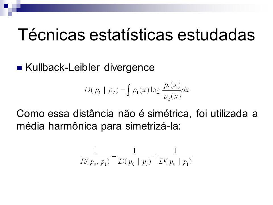 Técnicas estatísticas estudadas