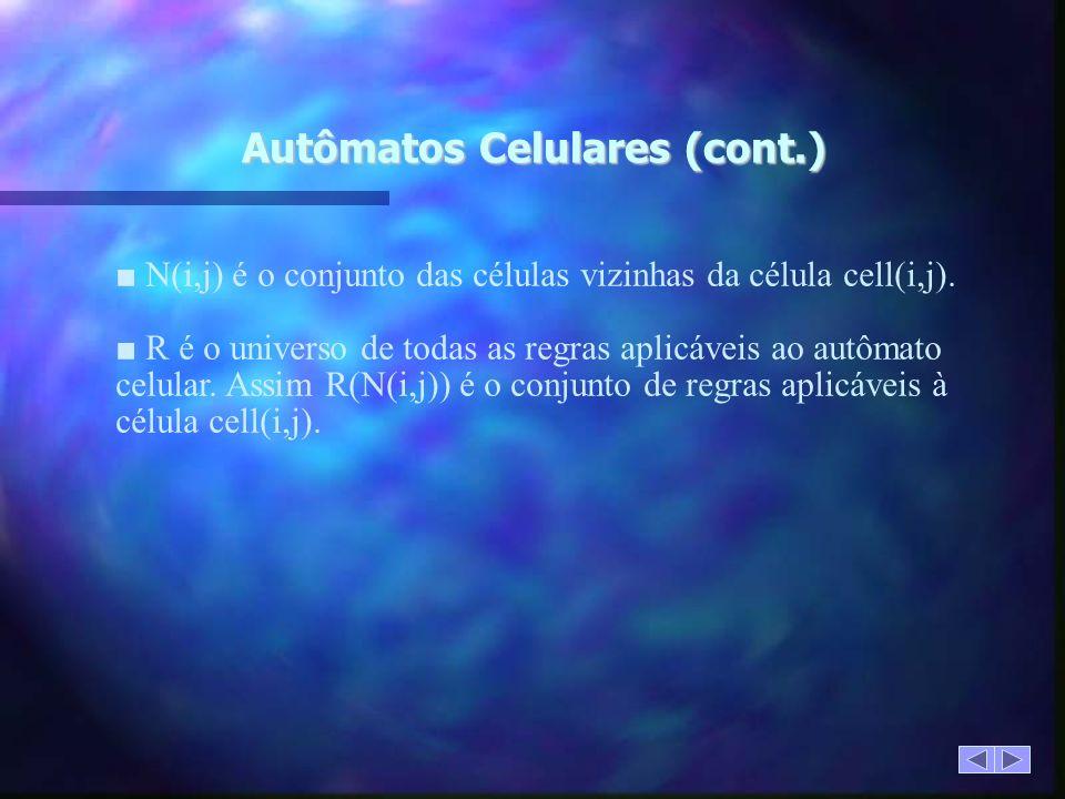 Autômatos Celulares (cont.)