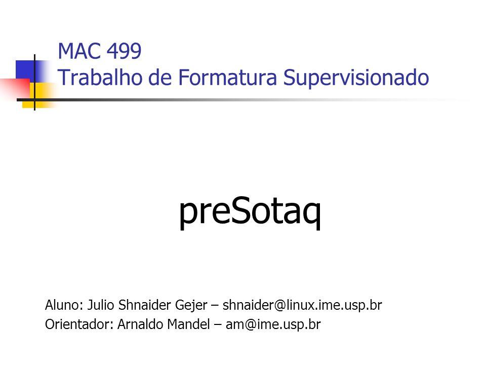 MAC 499 Trabalho de Formatura Supervisionado