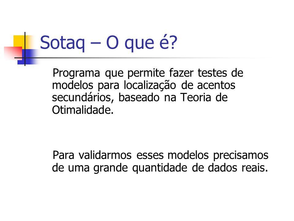 Sotaq – O que é Programa que permite fazer testes de modelos para localização de acentos secundários, baseado na Teoria de Otimalidade.