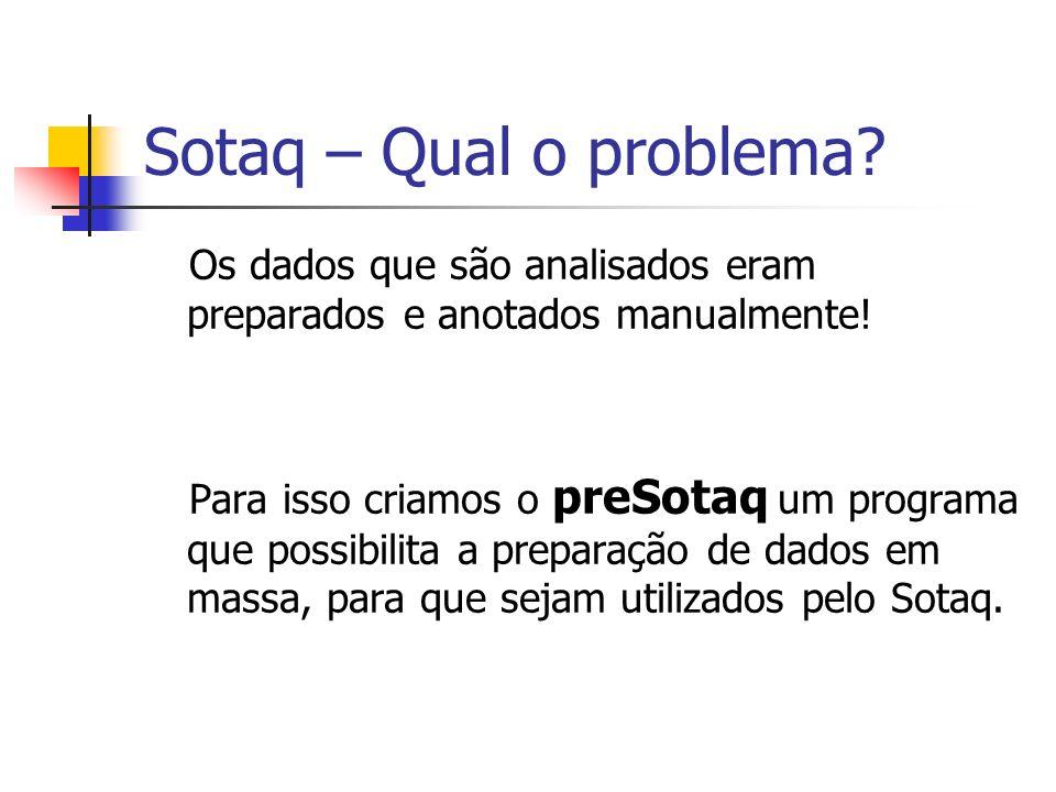 Sotaq – Qual o problema Os dados que são analisados eram preparados e anotados manualmente!