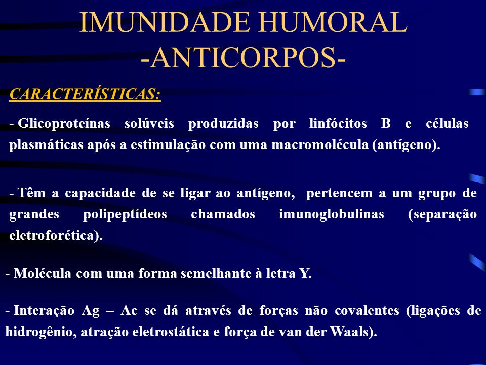 IMUNIDADE HUMORAL -ANTICORPOS-