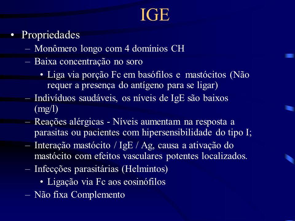 IGE Propriedades Monômero longo com 4 domínios CH