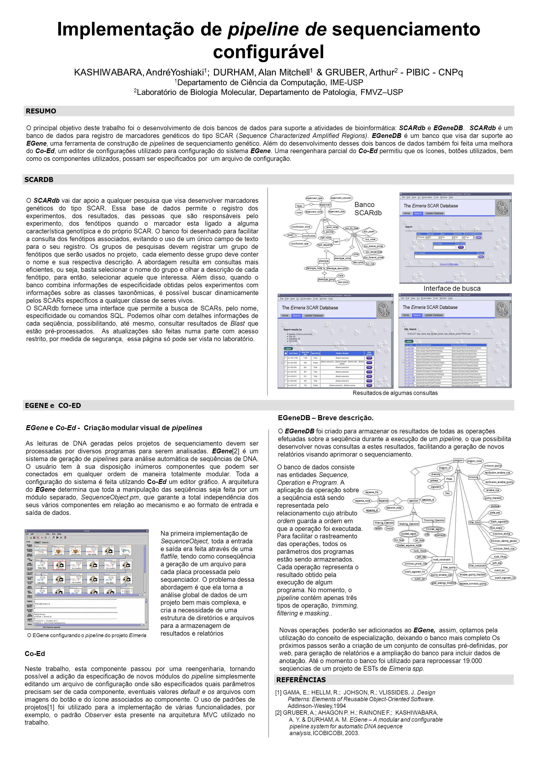 Implementação de pipeline de sequenciamento configurável
