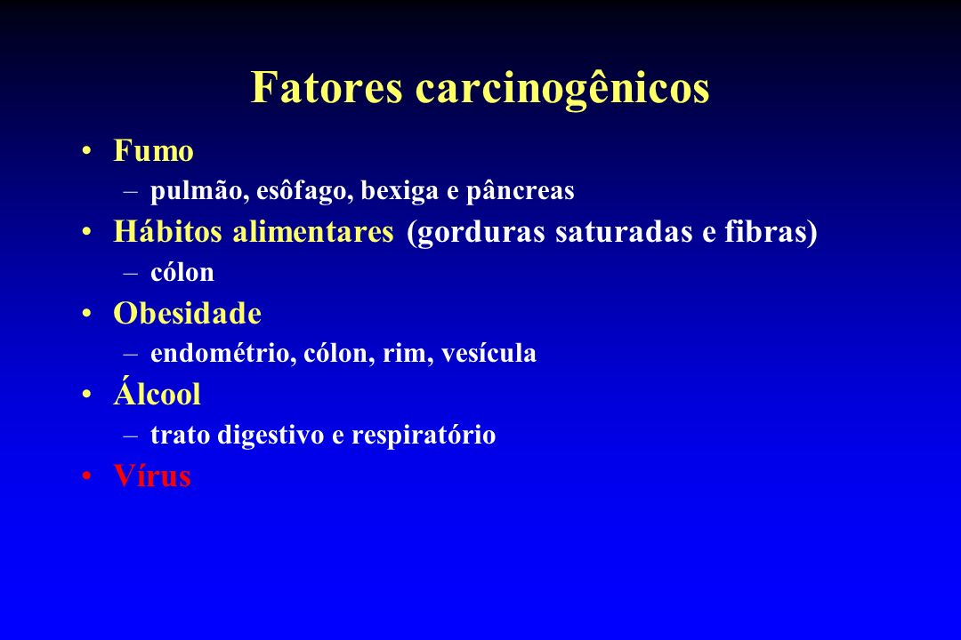 Fatores carcinogênicos