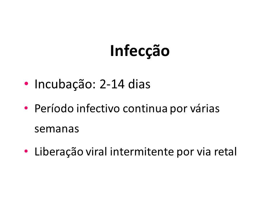 Infecção Incubação: 2-14 dias