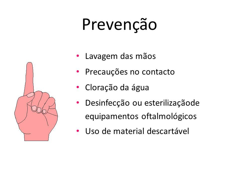Prevenção Lavagem das mãos Precauções no contacto Cloração da água