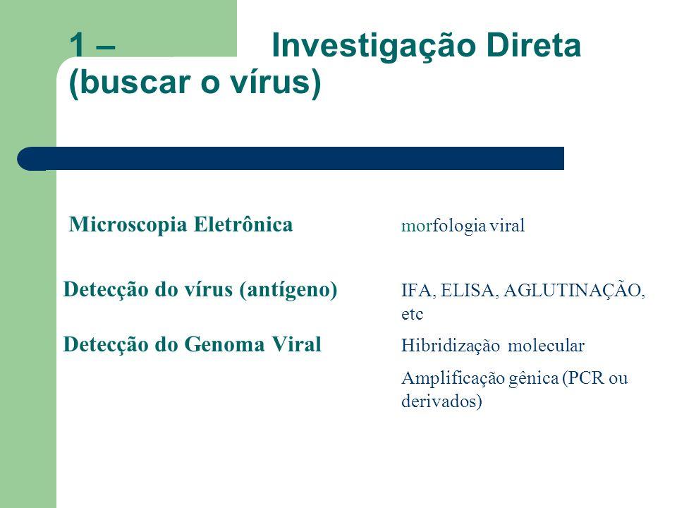 1 – Investigação Direta (buscar o vírus)