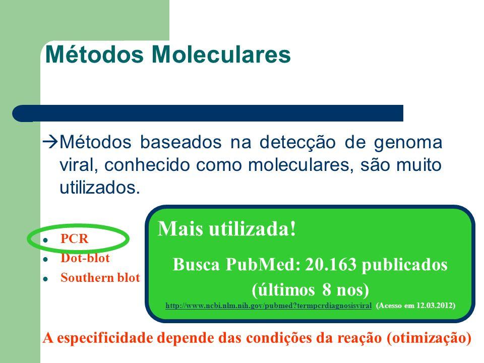 Métodos Moleculares Mais utilizada!