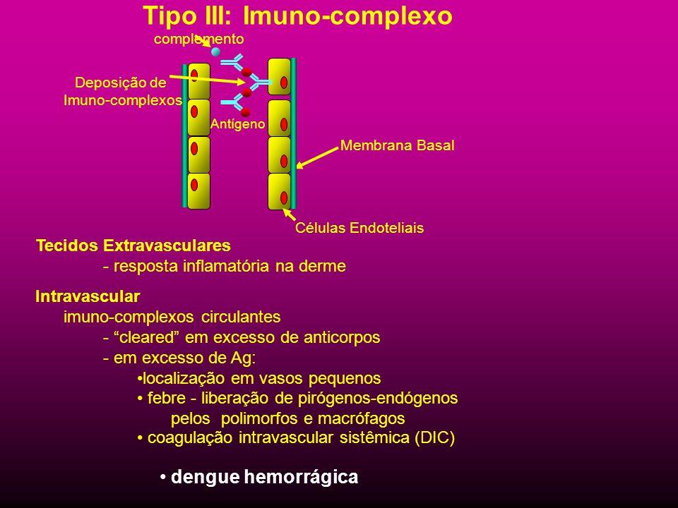 Tipo III: Imuno-complexo