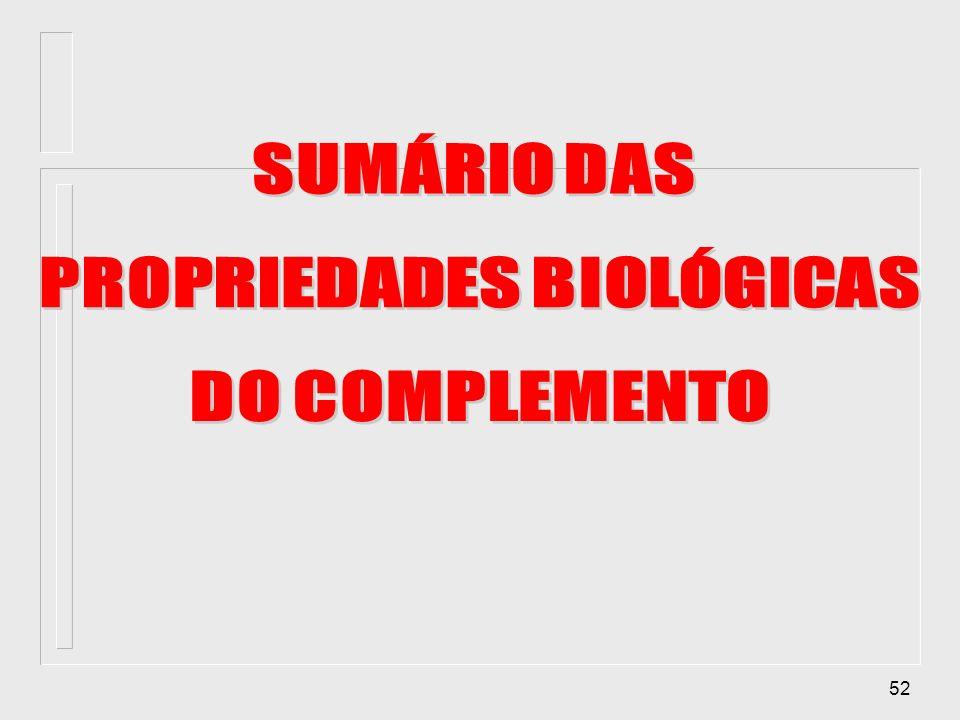 PROPRIEDADES BIOLÓGICAS