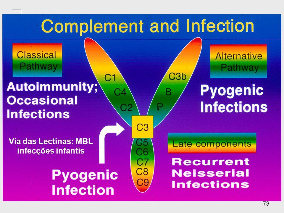Via das Lectinas: MBL infecções infantis