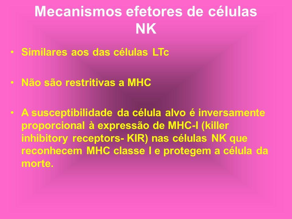 Mecanismos efetores de células NK