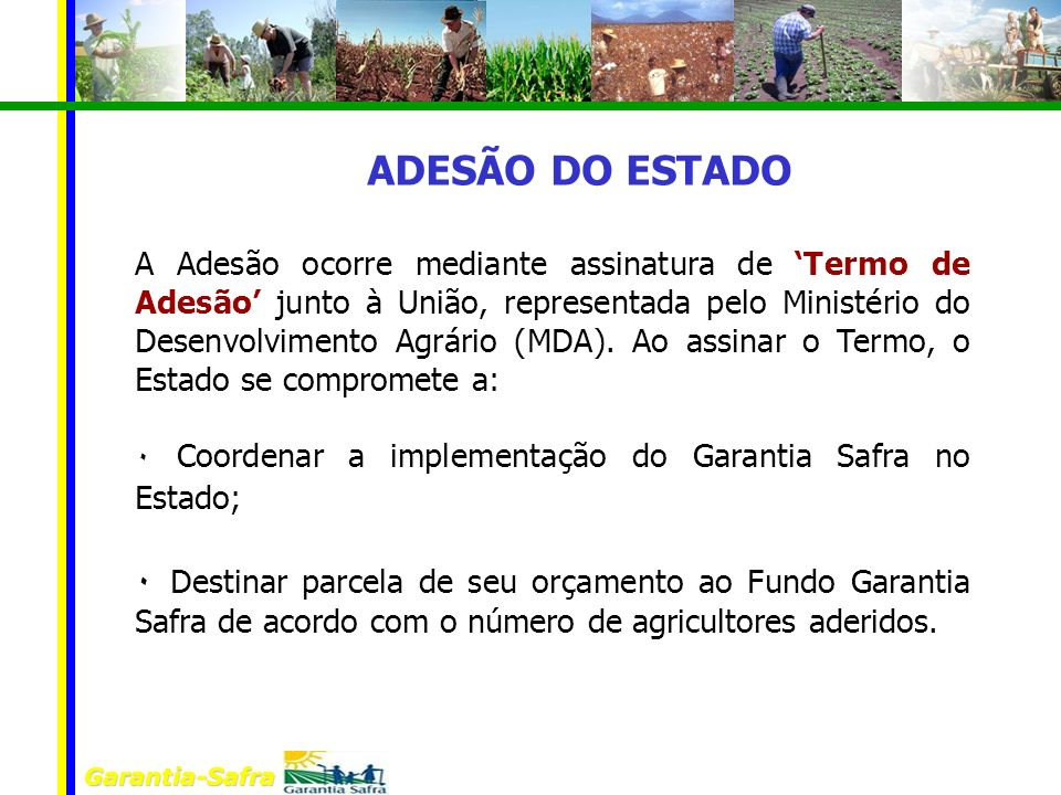 ADESÃO DO ESTADO