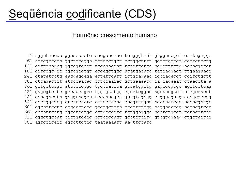 Seqüência codificante (CDS)