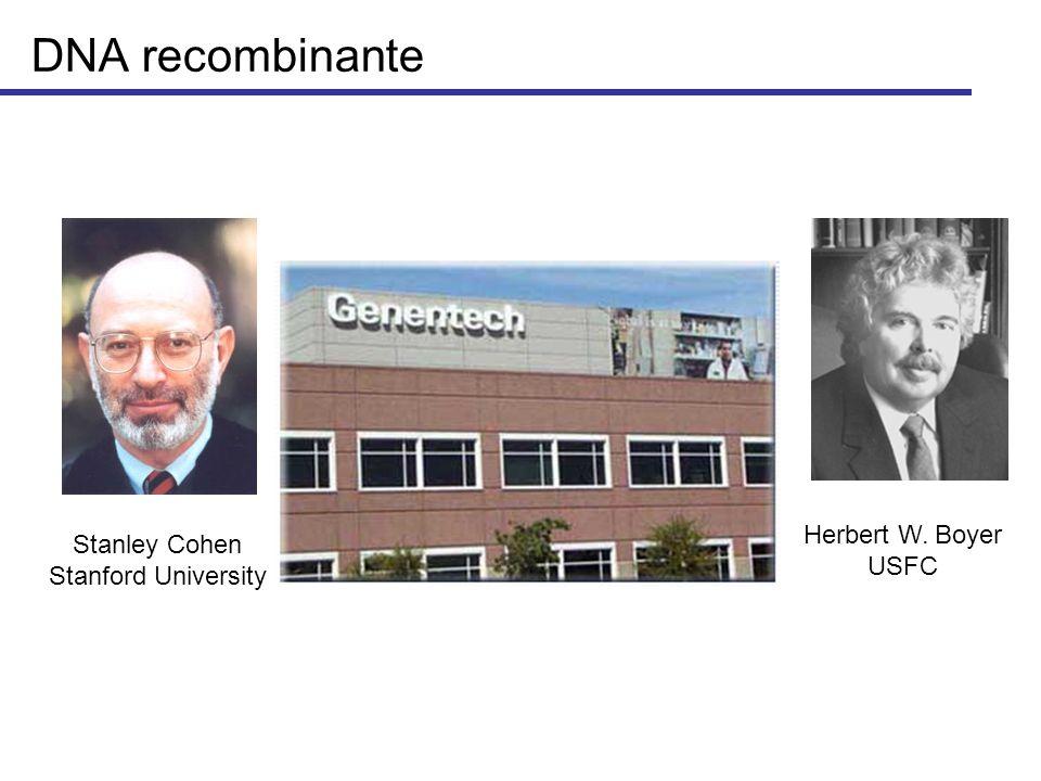 DNA recombinante Herbert W. Boyer Stanley Cohen USFC