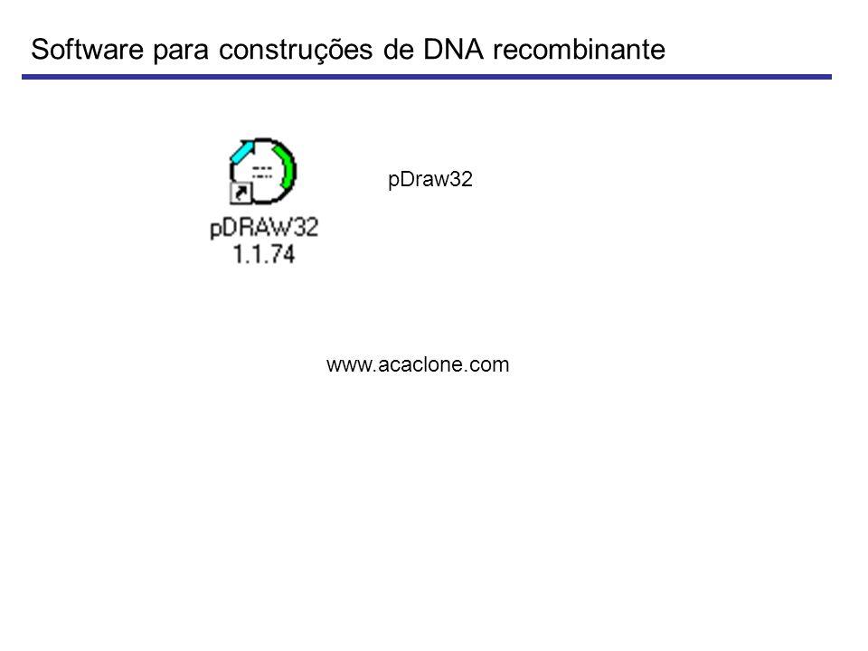 Software para construções de DNA recombinante