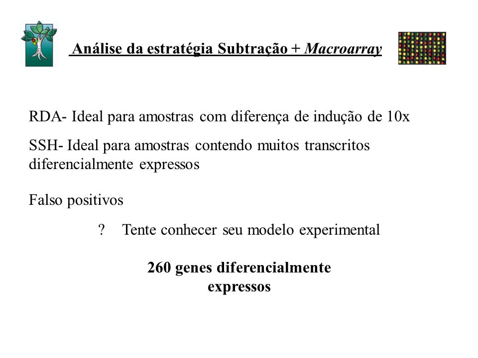 260 genes diferencialmente expressos