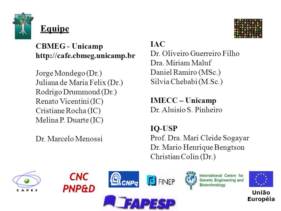 CNC PNP&D Equipe IAC CBMEG - Unicamp http://cafe.cbmeg.unicamp.br