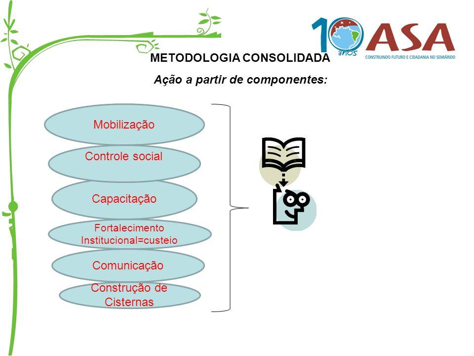 METODOLOGIA CONSOLIDADA Ação a partir de componentes: