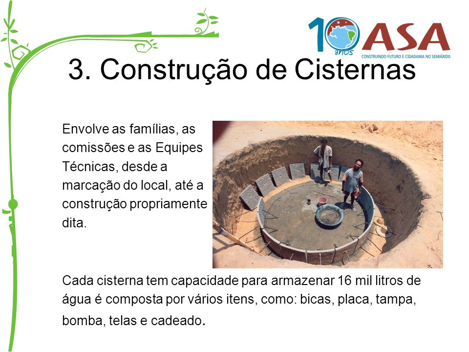 3. Construção de Cisternas