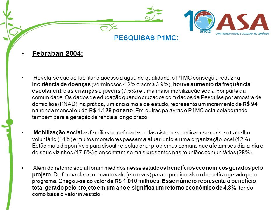 PESQUISAS P1MC: Febraban 2004: